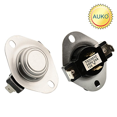 3387134 Cycling Thermostat Replacement for Whirlpool Kenmore Maytag Dryer Parts Replaces 3387135 3387139 WP3387134VP by (Amana Clothes Dryer Thermostat)