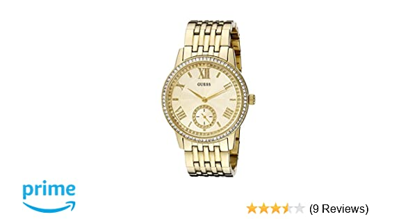 Amazon.com: GUESS Womens U0573L2 Classic Gold-Tone Watch with Genuine Crystals: Guess: Watches