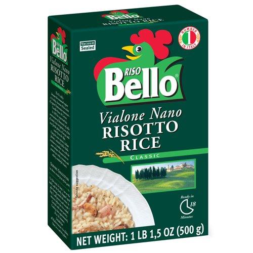 Riso Bello - Vialone Nano Risotto Rice, Gluten Free - 17.5 oz (Pack of 12) by Riso Bello
