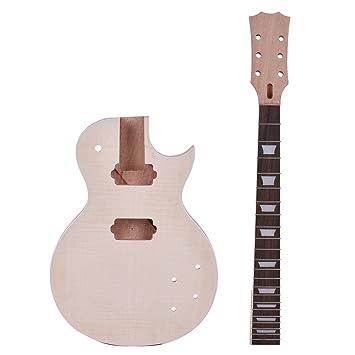 ammoon Diy Guitar Kits Unfinished Elektrische E-Gitarren LP Stil ...