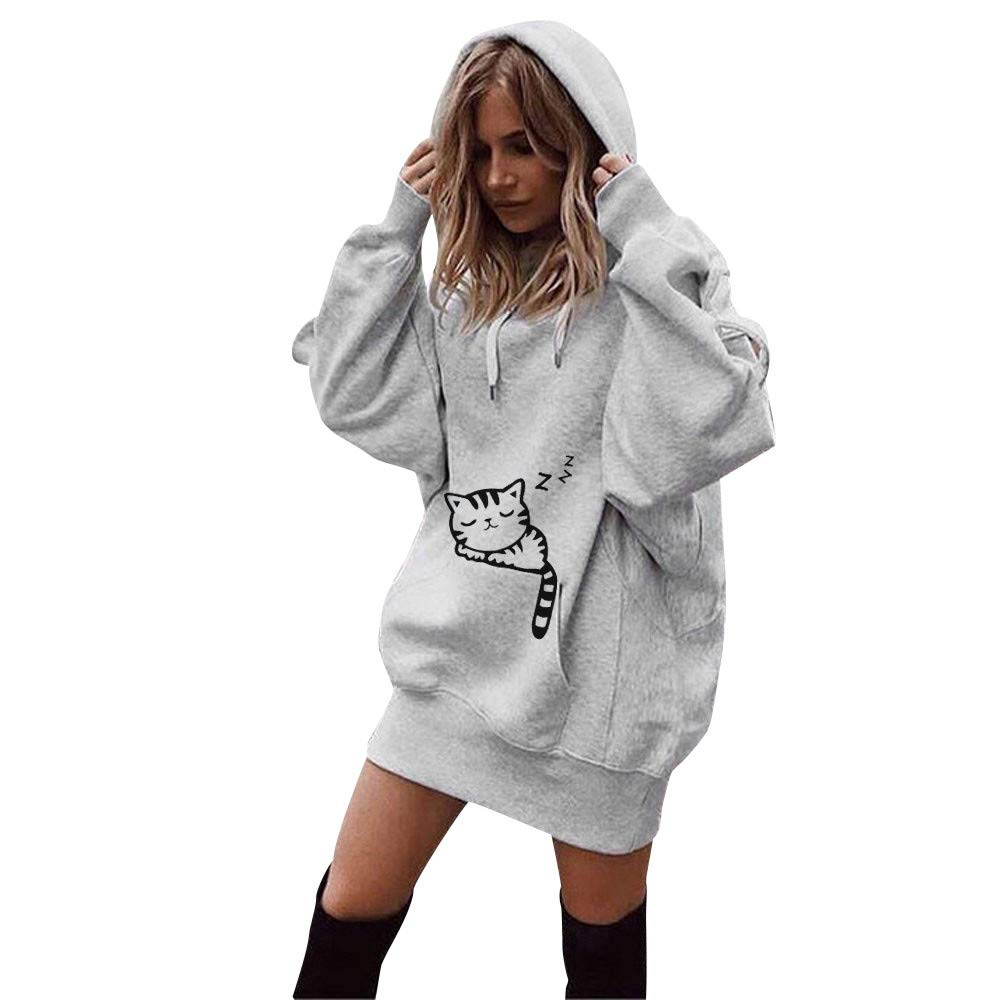 Hoodies for Women Teen Girls Pullover, Jiayit Women Fashion Clothes Solid Color Hoodies Pullover Coat Hoody Sweatshirt Top Blosue Shirt