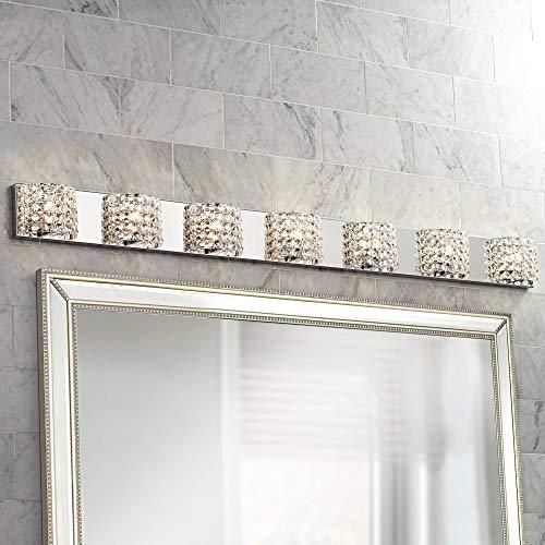 Cesenna Modern Wall Light Chrome Hardwired 64 1/4