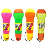 Toyvian 4pcs Echo Mic Magic Microphone Toy for Kids Toddler Graduations Holidays Birthday Parties Gifts (Mixed)