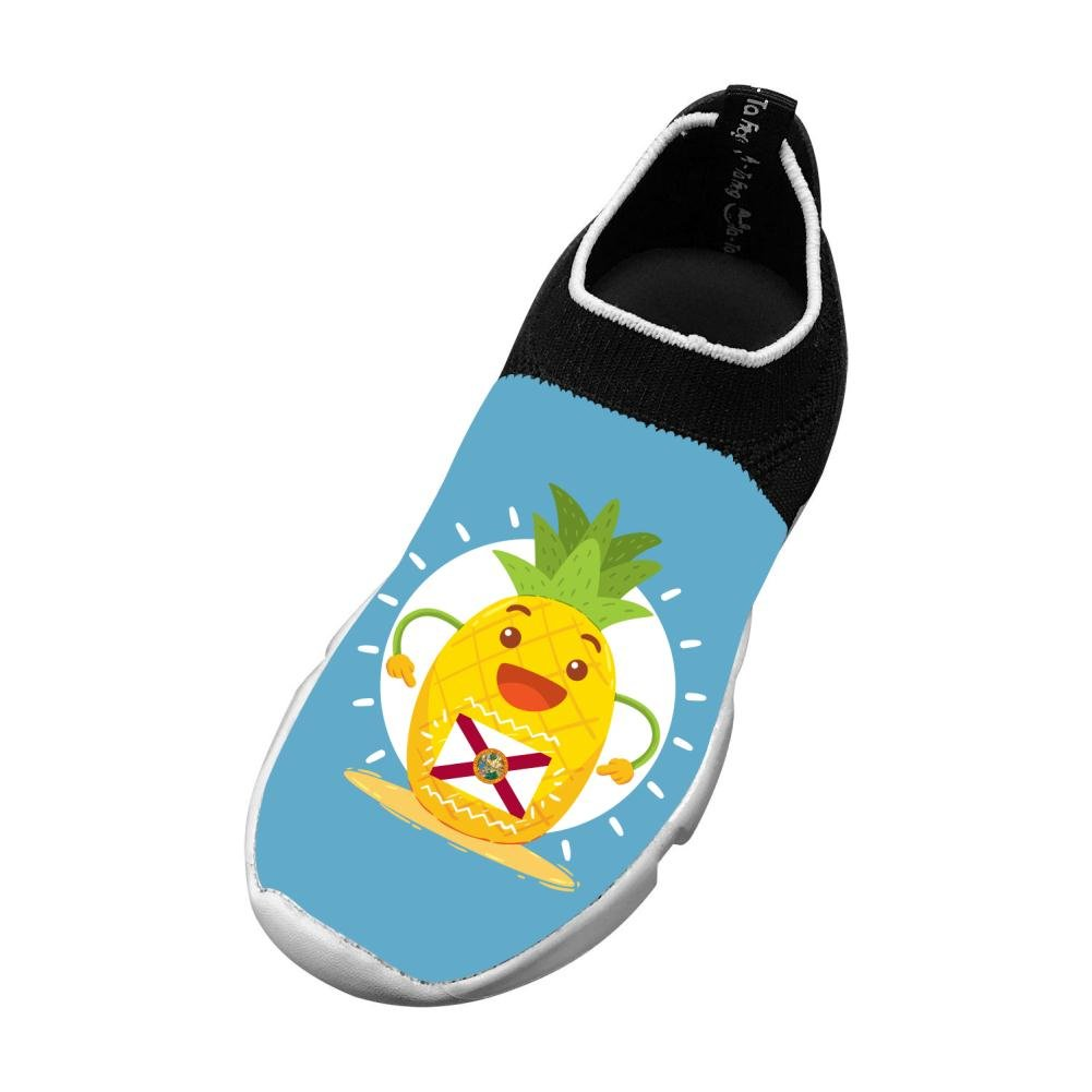 Sports Flywire Weaving Sports Shoes For Boy Girl,Print Pineapple Florida