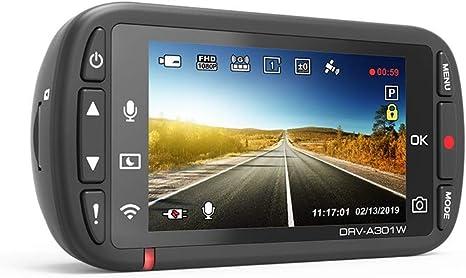 Kenwood Drv A301w Full Hd Dashcam Mit 3 Achsen G Sensor Gps Und Wireless Link Inkl 16gb Micro Sd Karte Navigation