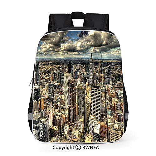 Laptop Backpack Water Resistant Anti-Theft Bag,Melbourne Cityscape Modern Australia Architecture Buildings Metropolis Dramatic Sky 16 inches Multicolor,for Boys Girls School Student Daypack (Best Laptop For Architecture Student Australia)