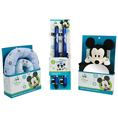 New Disney Mickey Mouse Baby Travel Essentials Bundle, Blue