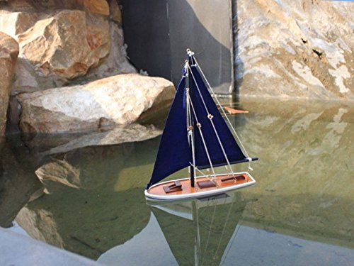 White Model Sailboat - Hampton Nautical  It Floats Floating Sailboat, 12
