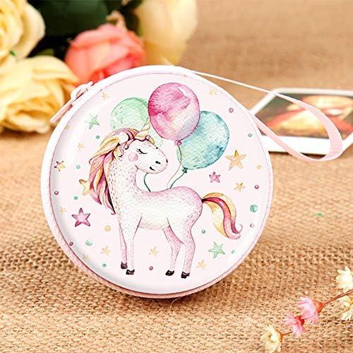 collar pulsera Mochila con cord/ón para regalo de unicornio para ni/ñas incluye bolsa de maquillaje Standie juego de lazos para el pelo para recuerdos de fiesta de unicornio azul