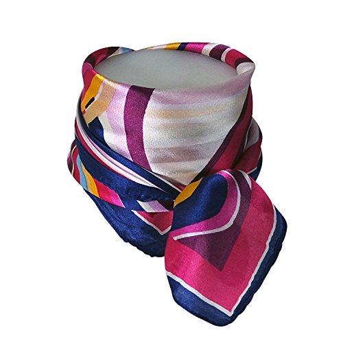 Chapeau-tendance - Foulard carré soie rose Gaïa - - Femme