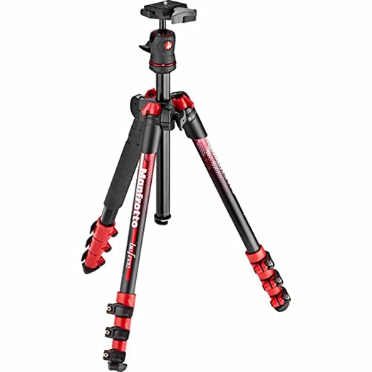 Manfrotto traveler BeFree Tripod with Ball Head - Red (MKBFRA4RD-BH) <span at amazon