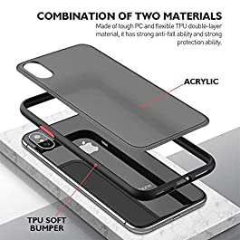AE Mobile Accessories Back Cover for Vivo V20 Smoke Translucent Shock Proof Smooth Rubberized Matte Hard Back Case (Black)