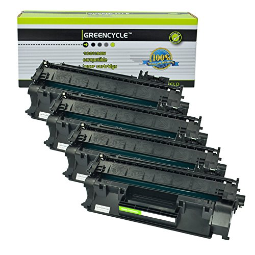 GREENCYCLE 4 Pack Compatible for HP CF280A Toner Cartridge (80A) for Laserjet Pro 400 MFP M401/M425 Laser Toner Printers