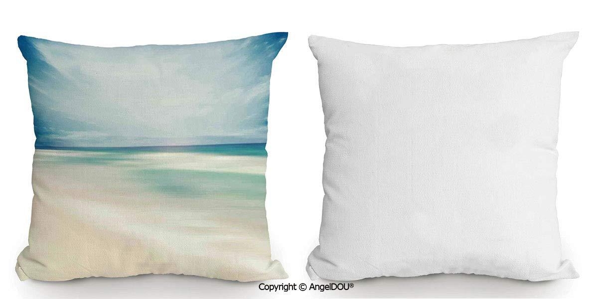 AngelDOU - Cojín de Lino y algodón, diseño de Letra Z ...