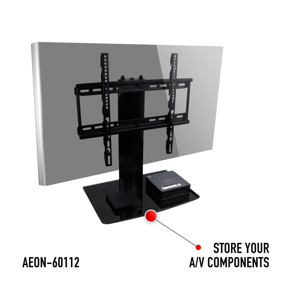 Amazon Aeon Stands And Mounts Small TV Stand With Swivel Height Adjustment For 23 To 50 Inch TVs Kitchen Dining