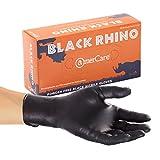 AmerCare Black Rhino Powder Free Nitrile Gloves, Extra-Large, Case of 1000