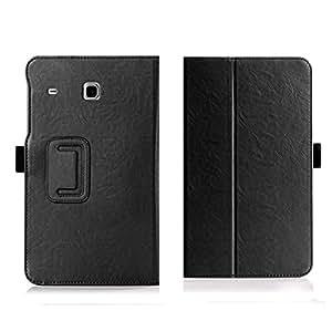 Ake PU Leather Card Slot Hand Strap Case Cover para Samsung Tab E 8.0 inch T375/T377A/V/P (Black)
