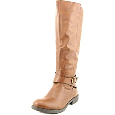 Womens Madixe Round Toe Mid-Calf Riding Boots