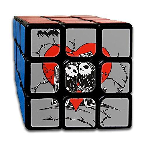 Halloween 3x3x3 Cube Puzzle, Speed Cube, The Best, Carbon Fiber Sticker Smooth Magic Cube (Halloween Costume Rubik's Cube)