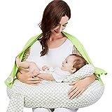 Nursing Pillow Deluxe + Premium Breastfeeding Positioner...