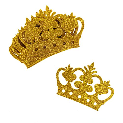 Homeford Glitter Foam Royal Crown Cut-Outs, 2-3/4-Inch, 10-Count (Gold)