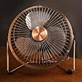 YEWANG Copper Plated Usb Small Fan Small Portable Mini Student Bed Desktop Office Desktop Home 6 Inch Retro Electric Fan Mute With Bronze Small Fan