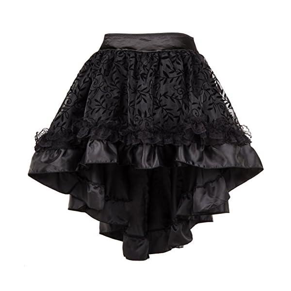 Bslingerie Womens Steampunk Vintage Medieval Dress Skirt 3