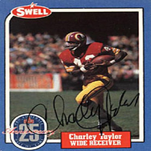 (Charley Taylor Autographed 1988 Swell Hall of Fame Football Card)
