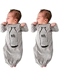 22468b6607d Newborn Infant Baby Boys Long Sleeve Print Gowns (6 Months