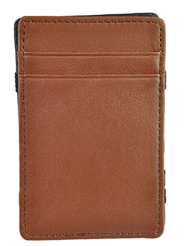 (Royce Leather Men's The Magic Wallet - Black and Tan)