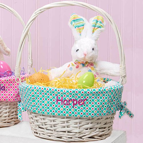 Personalized Colorful Dots Easter Basket (Personalized Easter Basket)