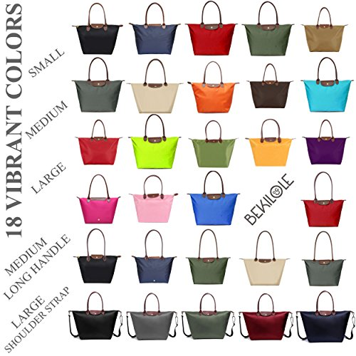 Stylish Bags Beach Travel Waterproof Tote Army Green Nylon Shoulder Bag BEKILOLE Women's FCxwHq51p