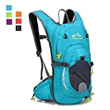 youth hydration pack - 15L Cycling Backpack with Helmet Net, ZCL Lightweight Personalized Running Hiking Daypack (Skyblue-Pro)
