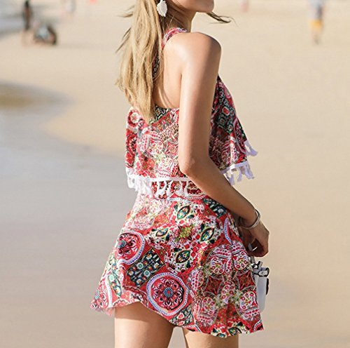da Rosso due Costume Beach Costume Skirt M pezzi bagno da donna in Split bagno Swimsuit HOMEE q657gwxFI5