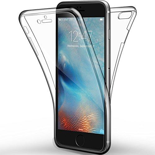 "Coque Etui iPhone 6s Plus / 6 Plus, Leathlux Silicone Gel Case Avant et Arrière Intégral Full Protection Cover Transparent TPU Housse Anti-rayures pour iPhone 6s Plus / 6 Plus 5.5"""