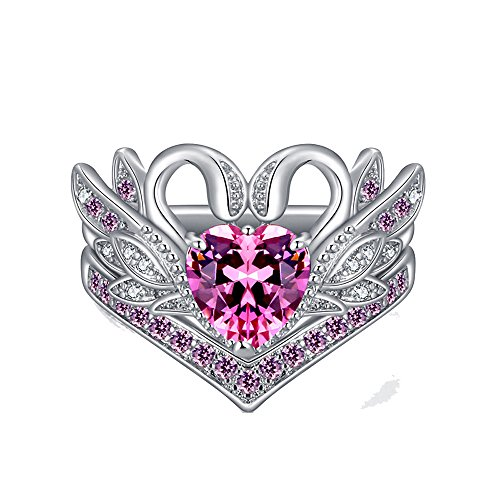 SMALLE ◕‿◕ Jewelry Rings for Women, Hot Women's Ring Crown Swan Shape Ruby Inlaid Pink Gems Ring from SMALLE ◕‿◕