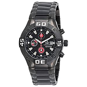SWC Men's Black Dial Stainless Steel Band Watch - 690-7QA