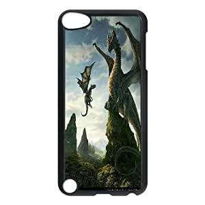 UNI-BEE PHONE CASE FOR Ipod Touch 5 -Dragon & Beast-CASE-STYLE 3