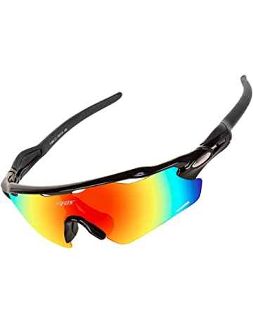 4d591012c8 BATFOX Polarized Sports Suanglasses Cycling Glasses with Interchangeable  Lenses