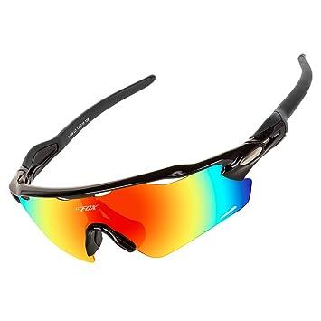 nuovo stile 1c399 68374 BATFOX Occhiali da Sole Sportivi, Anti-UV 400 Protezione Occhiali da  Ciclismo Polarizzati con Telaio Leggero Infrangibile TR90 per ...