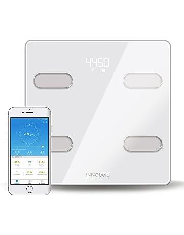 InnoBeta Fitfy Báscula Digital Inteligente con Bluetooth & App, Balanza de Baño, escáner del