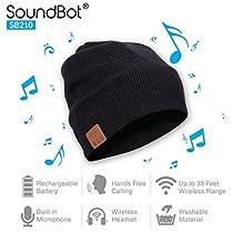 SoundBot¨ SB210 HD Stereo Bluetooth 4.1 Wireless Smart Beanie Headset Musical Knit Headphone Speaker Hat Speakerphone Cap,Built-in Mic