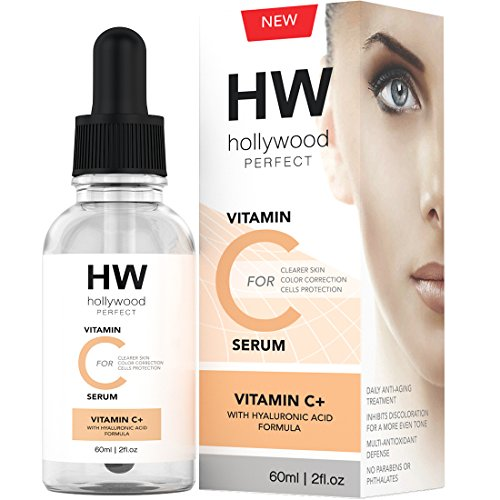 Hollywood Perfect Vitamin C Serum With Hyaluronic Acid - Clear Facial Moisturizer With Anti-Aging Formula, Strong And Youthful Glowing Skin, Reduced Fine Lines And Wrinkles, And Even Skin - Clear Shops Mall Water