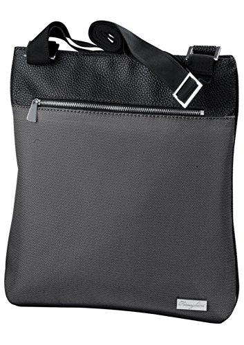 27x34x5cm BARBACADO porté épaule pochette bandoulière Sac noir FERRAGHINI bi matière wHxYxS