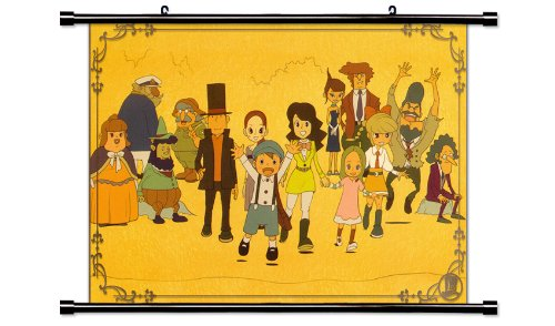 Professor Layton Anime Game Fabric Wall Scroll Poster  Inche