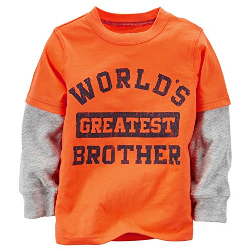 Slogan Baby T-shirt - Carter's Baby Boy's Slogan Two Fer - Greatest Brother - 18 Months