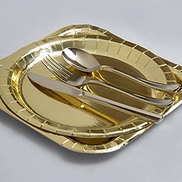 Pack of 8 Unique Party 32296-12oz Foil Gold Paper Cups