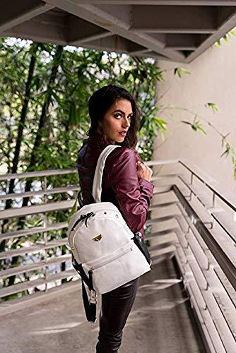 Backpack Travel Backpack Shoulder Bag Leather Girls Womens PU Fashion Rucksack Ladies White Bag vqZngzH