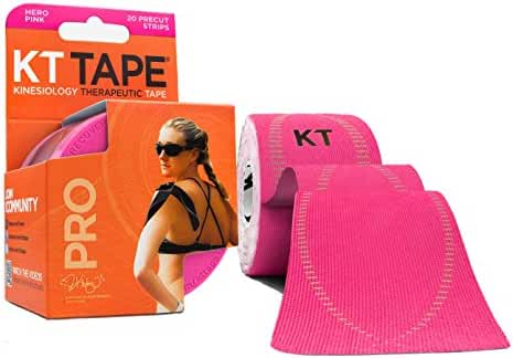KT TAPE PRO Synthetic Elastic Kinesiology 20 Pre-Cut 10-Inch Strips Therapeutic Tape