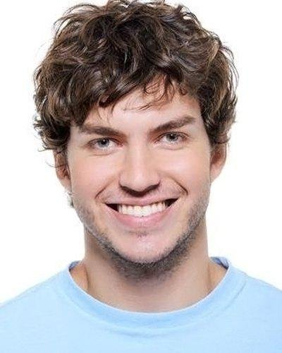 Premium wigs liap Men's curly hair in Europe and brown color mixing high temperature wire wig European fashion men's daily natural - Shops Naples In
